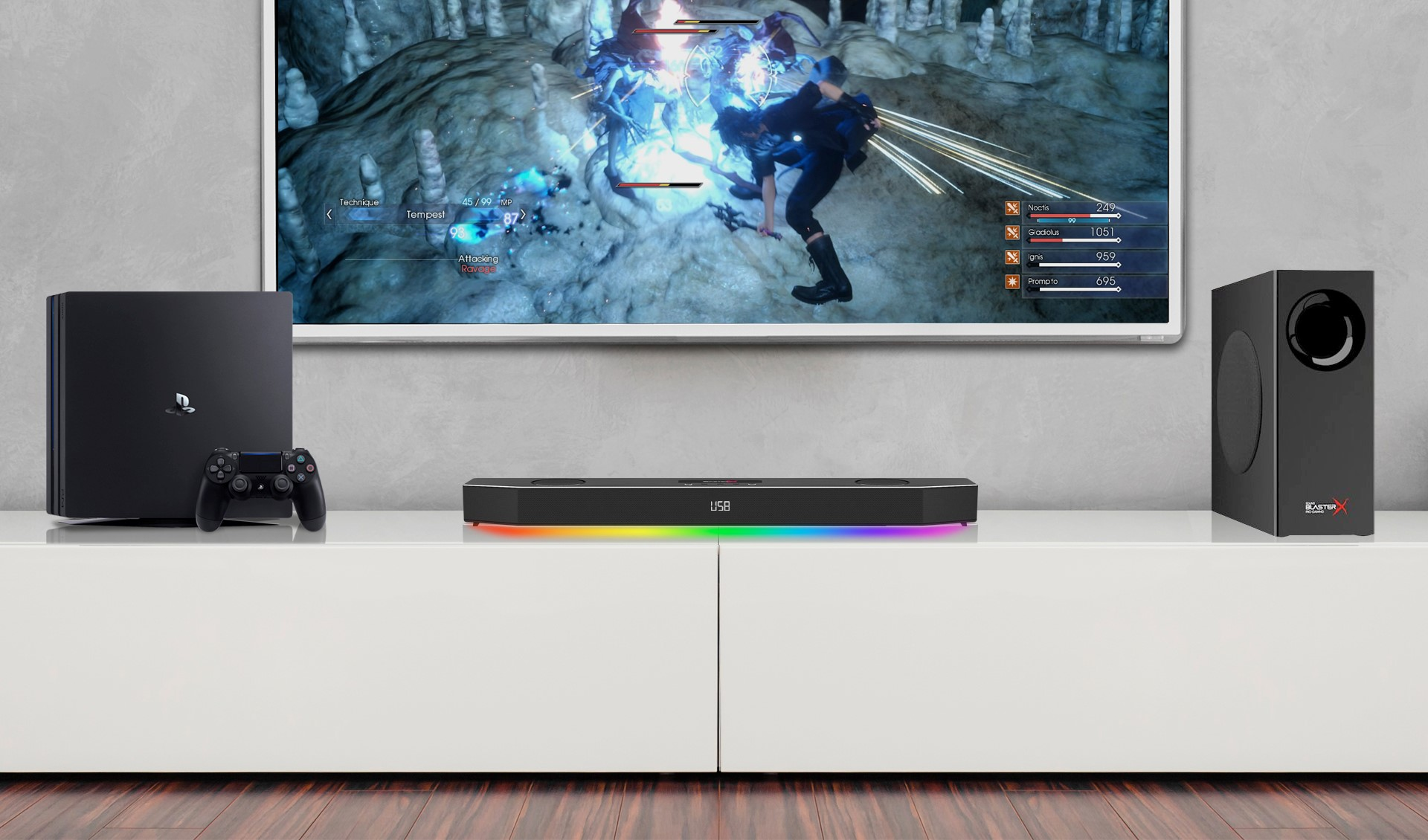 sound blasterx katana playstation 4 update erhalten. Black Bedroom Furniture Sets. Home Design Ideas