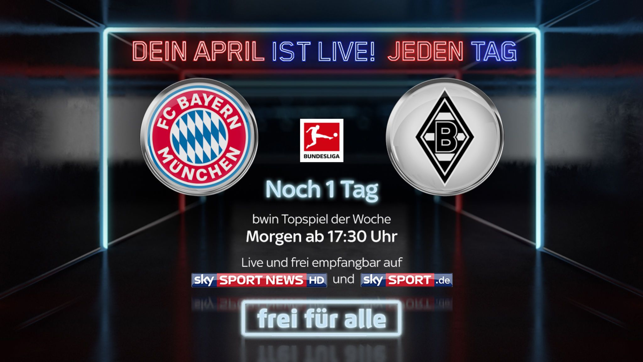 bayern gladbach free tv