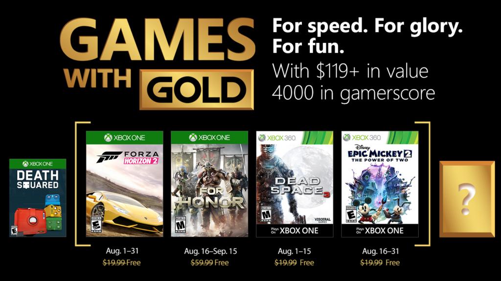 Games with Gold mit neuen Spielen im August gratis - FANCLUB MAGAZIN