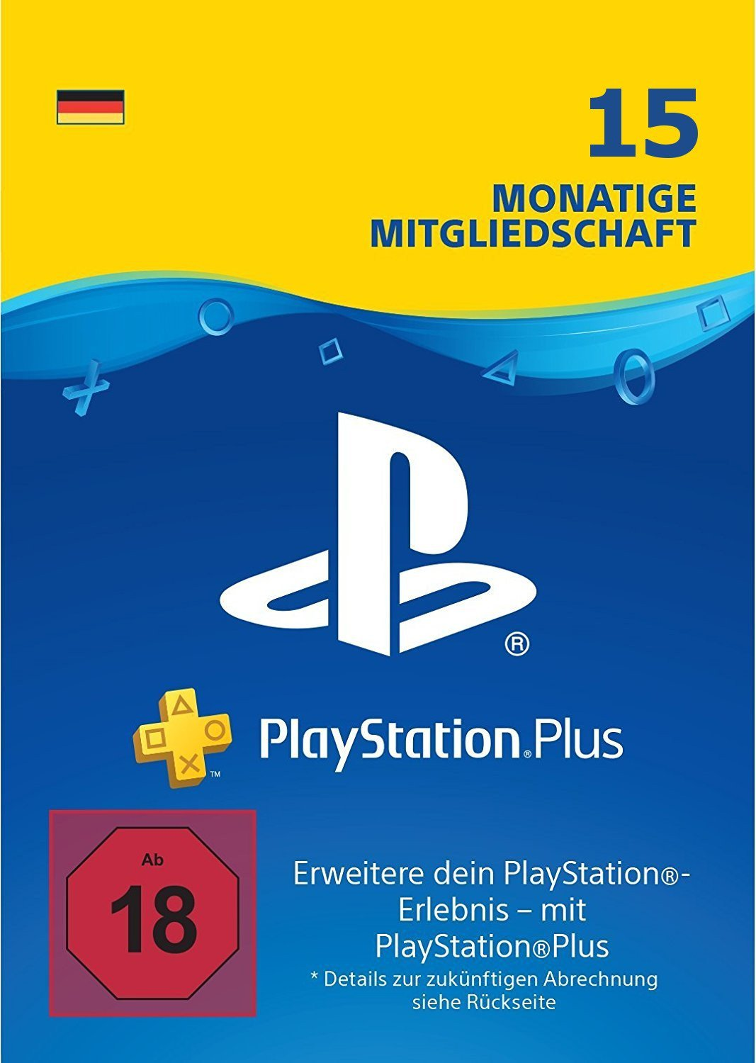 50% Rabatt auf 15 Monate PS Plus